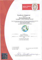 Certificate of Approval ABA